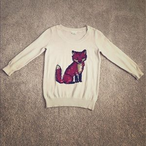Urban Outfitters sequin fox sweater